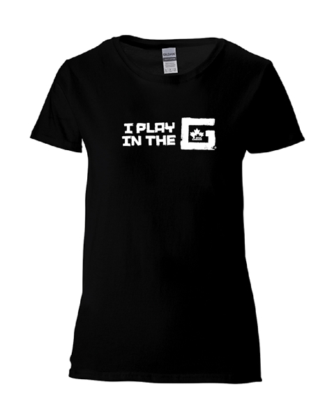 Picture of GHTL Ladies Black Cotton T Shirt