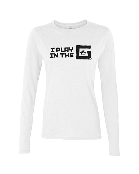 Picture of GTHL Ladies White Long Sleeve Tee